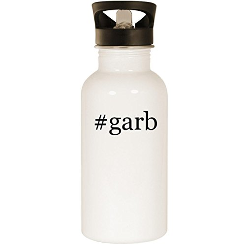 #garb - Stainless Steel Hashtag 20oz Road Ready Water Bottle, White]()