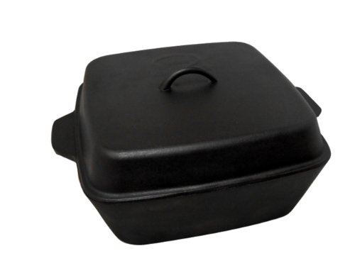 - King Kooker CIOR12S Seasoned Cast Iron Roaster with Lid, 12-Quart