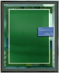 11 x 14 Green Mirror Plaque Engraved with Green Plate on Charcoal Wood by Gino's Awards Inc