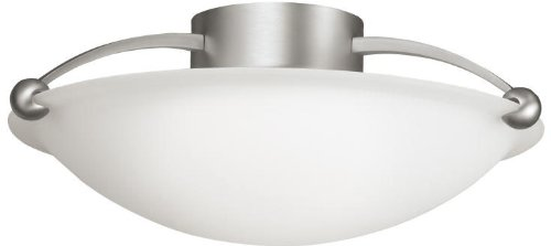 Kichler 8406NI, Semi-Flush Ceiling Light, 3 Light, 180 Watts, Brushed Nickel