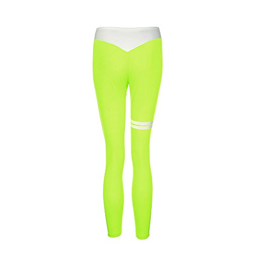 Beikoard - Pantalon Femme Taille Haute Femmes Sportswear Skinny Femmes Pantalons de Yoga Leggings Fitness Gym Vêtements Pantalon Stretch Vert