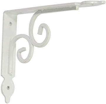 棚受け金具 アイアンブラケット 3PCシェルフブラケットウォールは、家や庭園トライアングル棚がサポートするマウント 棚 支え (Color : White, Size : S)