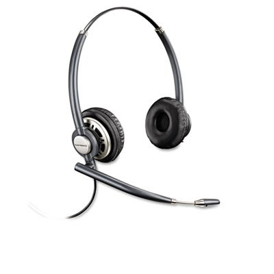EncorePro Premium Binaural Over-the-Head Headset w/Noise Canceling Microphone from PLANTRONICS, INC.