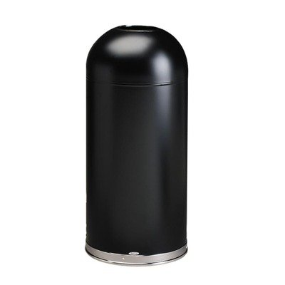 Safco Products 9639BL Open Top Dome Waste Receptacle, 15-Gallon, Black (Top Products)