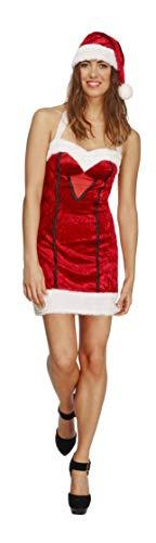 Fever Women's Miss Santa Costume, Multi, Medium