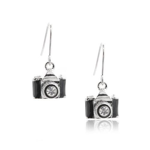 Spinningdaisy Dangling Classic Camera Earrings