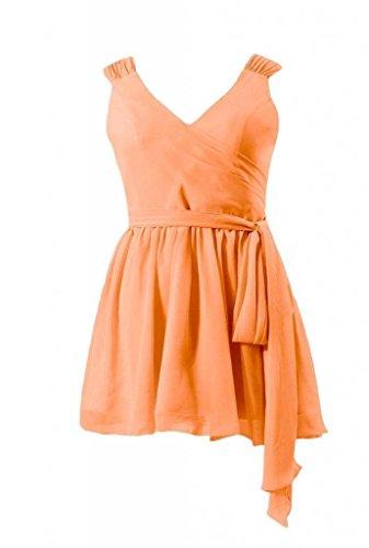 W Esterno Vestito arancio Partito Del Da Cinghie Cocktail Mini Da scollatura V bm1662rg Del Vestito 22 Pannello Daisyformals OwBHqH