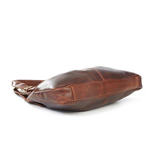 Chelsea-Borsa da spalla in pelle, colore: marrone antico