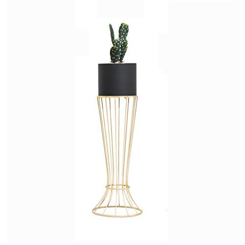 (ZHAS Metal Plant Stand with Flower Pot Skirt Bracket Floor-Standing Succulent Potted Storage Rack Home Decorative for Garden Patio)