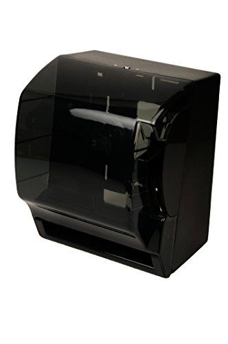 Quicky Handtuchrollenspender, manuell Kunstoff, schwarz transparent, 1er Pack (1 x 1 Stück)