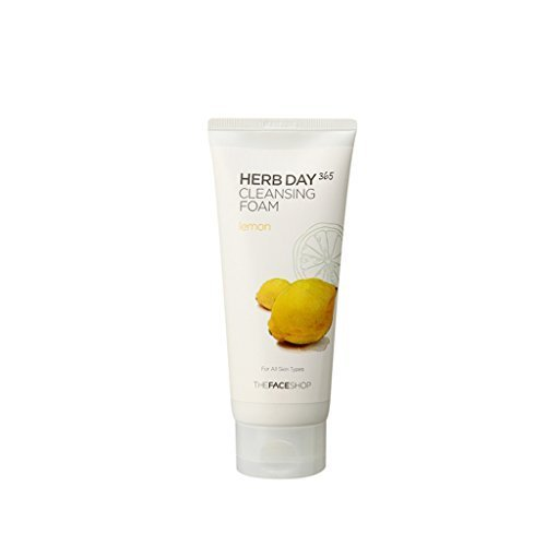 The-Face-Shop-Herb-Day-365-Lemon-Cleansing-Foam-575-Oz170Ml