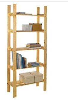 premium selection 7a48a 3b38d Light Duty 5 Shelf Unit - Natural Pine 107: Amazon.co.uk ...