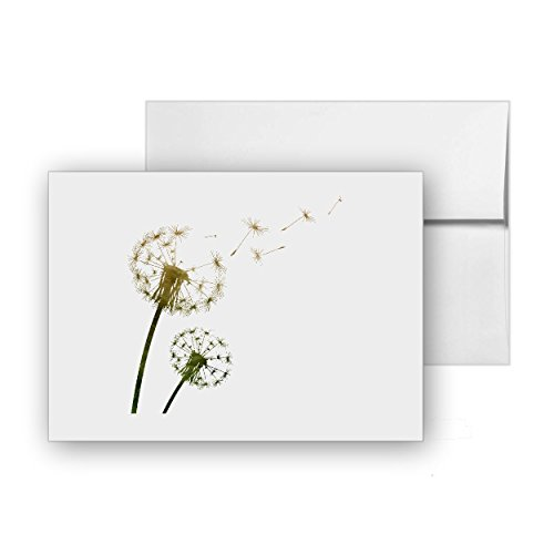 Bud Blank - Flying Dandelion Buds, Blank Card Invitation Pack, 15 cards at 4x6, with White Envelopes, Item 1386724