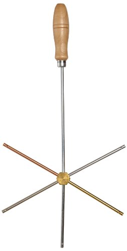 """American Educational Metal Heat Conductometer with Wooden Handle, 8"""" Length x 12"""" Width"""