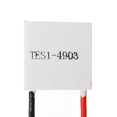MYAMIA Tes1-4903 20x20Mm 5V Thermoelectric K/ühler Halbleiter K/ühl Folie Heizk/örper Peltier Modul