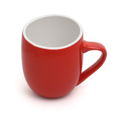 Offero 3 Ounce Espresso Cups, Set of 4 in Red Gloss