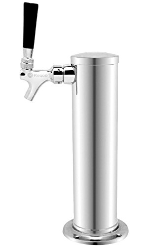 """Kegco D4743T 3"""" Draft Beer Tower Polished Chrome Plated Metal Single Faucet"""