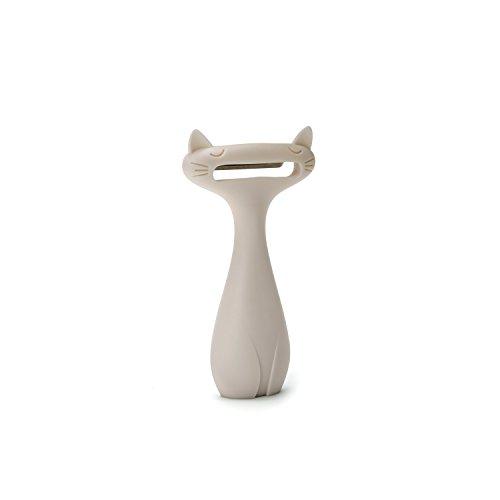 PELEG DESIGN CatPeeler Cute Vegetable Peeler, Cat Design Peeler for Potato Carrot Fruit, Kitchen Utensil Décor, White