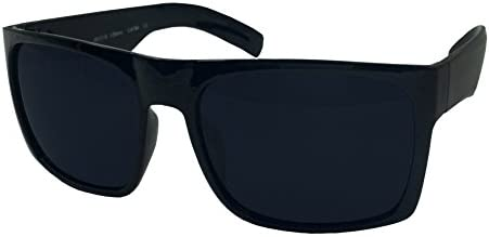 XL Men/'s Big Wide Frame Black Sunglasses Oversized Thick Extra Large Square