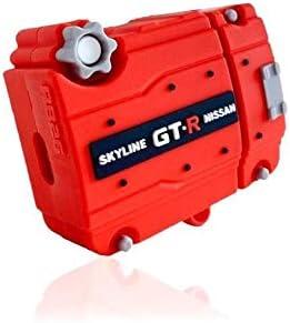 Jdmtuning Skyline Gtr Rb26 Schutzhülle Für Apple Airpods Motor Silikon Für Kabelloses Laden Der 1 Und 2 Generation Elektronik