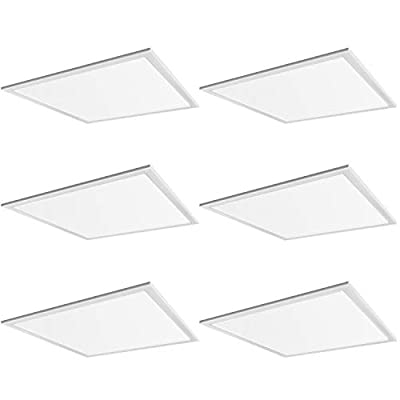 Hykolity 2x2 FT 40W 5000lm 5000K Lay-in LED Troffer Panel Light, 0-10V Dimmable Recessed Edge-Lit Troffer Fixture, Drop Ceiling Flat Panel Light