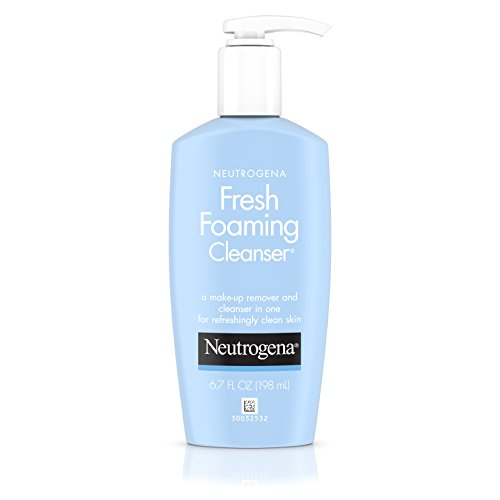 Neutrogena Fresh Foaming Facial Cleanser & Makeup Remover with Glycerin, Oil, Soap & Alcohol-Free Face Wash Removes Dirt, Oil & Waterproof Makeup, Non-Comedogenic & Hypoallergenic, 6.7 fl.Oz (3 Pack)