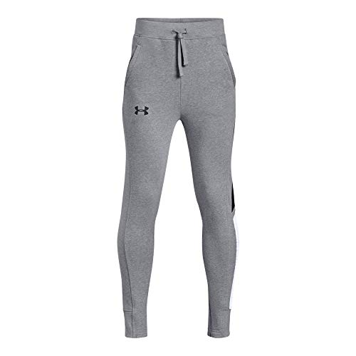 Under Armour Boys Rival Jogger, Steel Light Heather /Black,