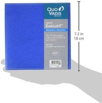 Quo Vadis 014806Q Club EXECUTIF Agenda civil Semainier 16 x 16 cm Bleu Roi Ann/ée 2020