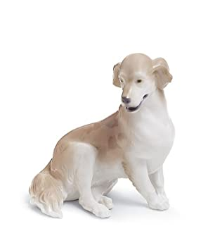 Lladro Golden Retriever Porcelain Figurine