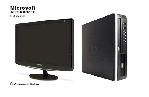 2018 HP Elite Package, AMD Duo Core 2.8GHz,4GB RAM,500GB,DVD,WiFi,Keyboard,Mouse,Windows 10-Multi Language Support-English/Spanish/French, 24in Sumsung Monitor(Renewed) (Hp Compaq 6005 Pro Small Form Factor Ram)