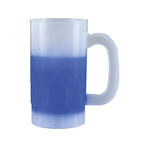 14oz Color Changing Beer Stein, set of 6, Frosted Blue by AAkron
