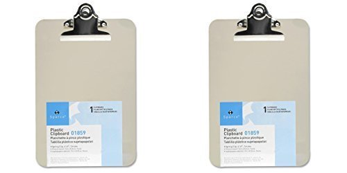 Mini/Small Transparent Clipboard (6 x 9 inches), 2 Packs
