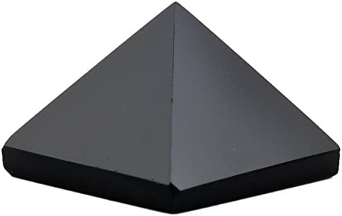 Winmaarc Healing Crystal Black Agate Pyramid Metaphysical
