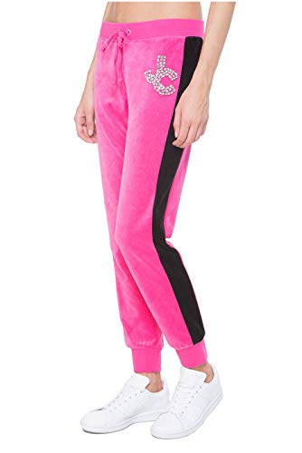 Juicy Couture Black Label Women's Velour Gems Zuma Pant, Couture Pink, X-Small