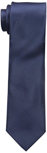 Geoffrey Beene Men's Bias Stripe Solid Tie, Navy, One Size