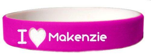 I heart Makenzie customized wristband (first name, last name, nickname)