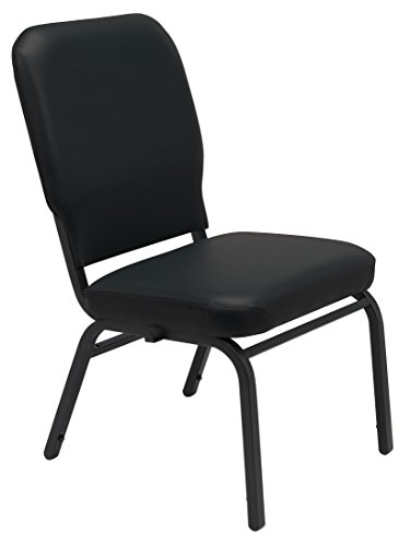 - KFI Seating Big and Tall Armless Guest Chair, Black Vinyl