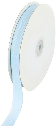 Creative Ideas 50-Yard Solid Grosgrain Ribbon, 5/8-Inch, Light Blue -