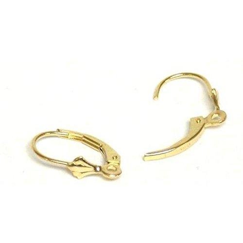 Leverback Earrings 14k Gold 15mm 1 Pair