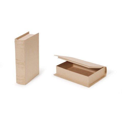 Bulk Buy: Darice DIY Crafts Paper Mache Book Box 9-3/4 x 6-1/2 x 2-1/4 in (2-Pack) 2824-74FCAL