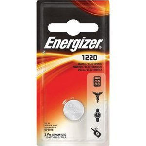 Energizer ECR1220BP Electronic Lithium 3V Batteries, Black/Red