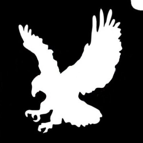 Glimmer Body Art Glitter Tattoo Stencils - Eagle -