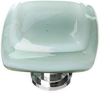 product image for Sietto K-103 Stratum 1-1/4 Inch Square Cabinet Knob, Polished Chrome