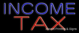 Income Tax Handcrafted Real GlassTube Neon Sign