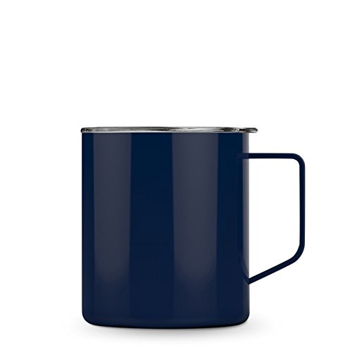 Maars Townie Insulated Coffee Mug, 14 oz | Double Wall Vacuum Sealed Camp Cup - Midnight Blue