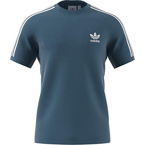 Uomo stripes Blanch Blue Adidas T shirt 3 TxqRa