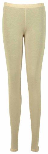 FEMMES NEUF décontracté grande taille Pantalon extensible DAMES uni àélastique long basique legging - Couleur Pêche, EU 44/46