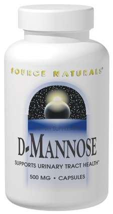 Source Naturals D-Mannose 500mg, 30 capsules