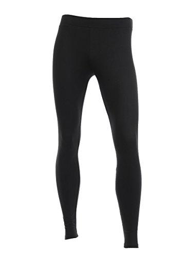 Neovic Mens Athleisure Ultra Soft Knit Yoga Pants Base Layer Casual Solid Leggings - Black - 2XL