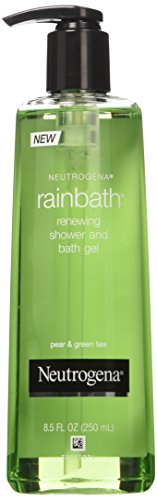 Neutrogena Rainbath Renewing Shower and Bath Gel, Pear & Green Tea, 8.5 Oz Pump Bottles (Pack of 3)